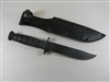CLEARANCE! FIGHTING KNIFE WITH LEATHER STYLE SCABBARD