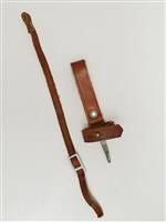 POLISH AK47/AKM LEATHER FROG AND WRIST STRAP FOR BAYONET