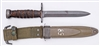 US GI M4 LEATHER HANDLE BAYONET WITH M8A1 SCABBARD