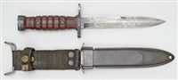 DUTCH USM1 CARBINE BAYONET WITH SCABBARD