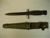 ITALIAN ARMY M1 CARBINE BAYONET GI ISSUE WITH LEATHER SCABBARD