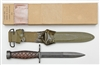 US GI M1 CARBINE M4 WOOD HANDLE WITH SCABBARD IN BOX