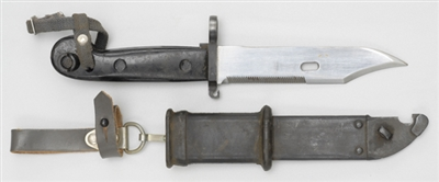 EAST GERMAN AK47 BAYONET WITH ROUND POMMEL.