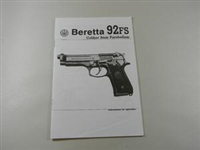 BERETTA SERIE 92 FS MANUAL