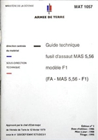 FRENCH FA-MAS 5,56 RIFLE TECHNICAL PAMPHLET