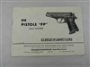 WALTHER PP GERMAN POLICE BOOKLET