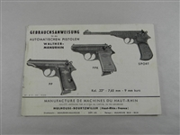 WALTHER PP/PPK/SPORT BOOKLET