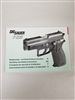 PISTOL SIG SAUER P225 HANDLING AND SAFETY INSTRUCTIONS