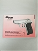 PISTOL SIG SAUER P232 HANDLING AND SAFETY INSTRUCTIONS