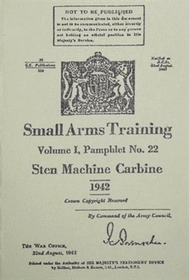 STEN SMG PAMPHLET 1942 DATED