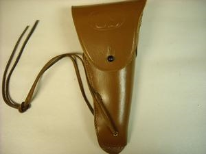 1916 HIP HOLSTER FOR THE COLT 45 PISTOL. BROWN OR BLACK COLOR
