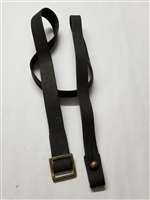 CARCANO WWII LEATHER SLING WITH SQUARE BRASS BUCKLE.