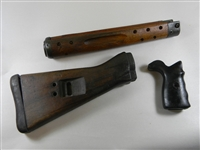 CETME RIFLE WOOD STOCK SET.