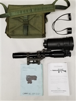 GERMAN POLICE SPECIAL FORCES H&K SNIPER SCOPE WITH NIGHT VISION ADAPTER.