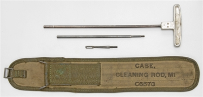 M1 CARBINE GI M8 CLEANING ROD WITH WWII DATED CANVAS CASE