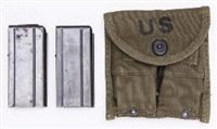 US GI M1 CARBINE BELT POUCH WITH 2-15 ROUND MAGAZINES