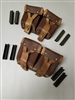 SET OF 2 MOSIN NAGANT RIFLE AMMO POUCHES WITH 8 STRIPPER CLIPS