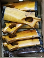 "NORINCO AK-47 THUMBHOLE WOOD STOCK BROKEN SOLD ""AS IS"""