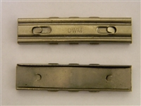 "MAUSER 98K RIFLE STRIPPER CLIPS MARKED ""DWM"". SET OF 5 PIECES"