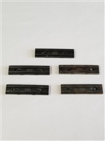 MAUSER 98K STRIPPER CLIPS BLACK MARKED MAUSER SET OF 5 PIECES.