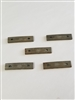 "MAUSER 98K GRAY STRIPPER CLIPS MARKED ""MAUSER"" SET OF 5 PIECES."