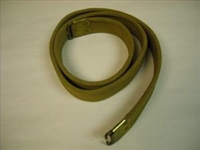 BRITISH ENFIELD RIFLE WWII KHAKI CANVAS SLING.