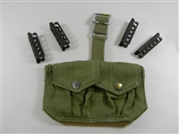 ENFIELD RIFLE AMMO POUCH O.D. COLOR WITH (4) STRIPPER CLIPS
