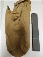 BRITISH WWII DATED KHAKI BASIC POUCH FOR STEN MAGAZINES.