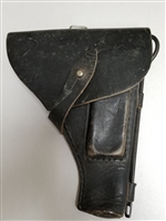 TOKAREV BLACK LEATHER HOLSTER WITH CLEANING ROD.