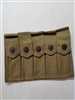"ORIGINAL US GI WWII KHAKI 5 POCKET MAGAZINE POUCH MARKED ""US"""