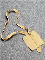 BRITISH WWII CANTEEN HOLDER CLOSED WITH SHOULDER STRAP.