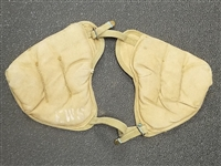 US GI WWII PAIRS OF KHAKI SHOULDER PADS PROTECTORS.