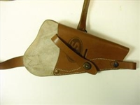 SMITH & WESSON VICTORY REVOLVER SHOULDER HOLSTER. BROWN OR BLACK.
