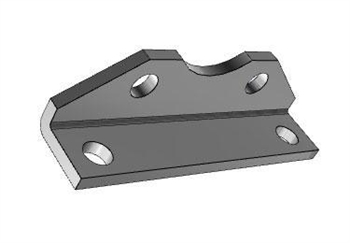 AIRTAC Mounting bracket for NSU series, MS1 type foot mounting for 2-1/2 inch bore cylinders