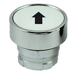 RB2-BA334...FLUSH PUSH BUTTON, SPRING RETURN, NON-ILLUMINATED, BLACK ARROW ON WHITE BASE