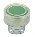 RB2-BA38...FLUSH PUSH BUTTON, SPRING RETURN, WITH TRANSPARENT BOOT, IP66, NON-ILLUMINATED, GREEN COLOR