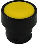 RB2-BA57...FLUSH PUSH BUTTON, SPRING RETURN WITH BLACK METAL BEZEL, NON-ILLUMINATED, YELLOW COLOR