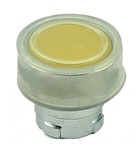 RB2-BA58...FLUSH PUSH BUTTON, SPRING RETURN, WITH TRANSPARENT BOOT, IP66, NON-ILLUMINATED, YELLOW COLOR