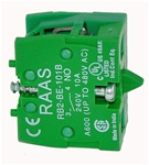 RB2-BE1016-BP...CONTACT BLOCK, BASE MOUNTED, NORMALLY OPEN, STANDARD TYPE, <b>FOR CONTROL STATION RC-P BOX MOUNTING ONLY,</B> GOLD FLASHED