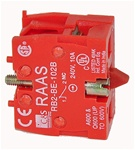 RB2-BE102-BM...CONTACT BLOCK, BASE MOUNTED, NORMALLY CLOSED, STANDARD TYPE, <b>FOR CONTROL STATION RC-M BOX MOUNTING ONLY</B>