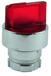 RB2-BK124...2 POSITION ILLUMINATED SELECTOR OPERATING HEAD, STAY-PUT TYPE, RED COLOR