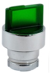 RB2-BK133...3 POSITION ILLUMINATED SELECTOR OPERATING HEAD, STAY-PUT TYPE, GREEN COLOR