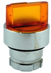 RB2-BK135...3 POSITION ILLUMINATED SELECTOR OPERATING HEAD, STAY-PUT TYPE, AMBER COLOR