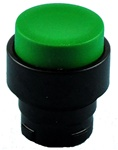 RB2-BL37...PROJECTING PUSH BUTTON, SPRING RETURN WITH BLACK METAL BEZEL, NON-ILLUMINATED, GREEN COLOR