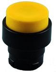 RB2-BL57...PROJECTING PUSH BUTTON, SPRING RETURN WITH BLACK METAL BEZEL, NON-ILLUMINATED, YELLOW COLOR