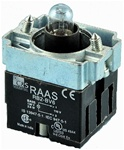 RB2-BV6-12...PILOT LIGHT BODY ASSEMBLY,12AC/DC,WITH FIXING COLLAR