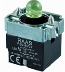 RB2-BVL73-110AC...PILOT LIGHT BODY ASSEMBLY, 110AC, INTEGRAL CIRCUIT & CLUSTER LED, GREEN COLOR