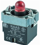 RB2-BVL74-110AC...PILOT LIGHT BODY ASSEMBLY, 110AC, INTEGRAL CIRCUIT & CLUSTER LED, RED COLOR