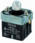 RB2-BVL75-12AC/DC...PILOT LIGHT BODY ASSEMBLY, 12AC/DC, INTEGRAL CIRCUIT & CLUSTER LED, AMBER COLOR