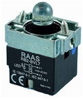 RB2-BVL76-12AC/DC...PILOT LIGHT BODY ASSEMBLY, 12AC/DC, INTEGRAL CIRCUIT & CLUSTER LED, BLUE COLOR